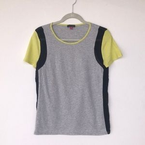 Vince Camuto Color Block Mix Media SS Tee